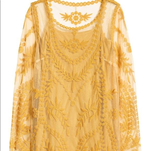 f92baf98a65 H M Dresses   Skirts - H M Mustard Lace Dress